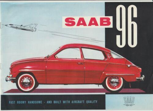 RARE 1960 SAAB 96 8 pg color brochure pamphlet catalog Advertising