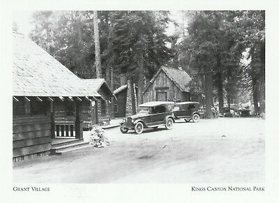 "+PC-Postcard-""Grant Village"" /Bustling Community/ *Kings Canyon CA (A62-2)"