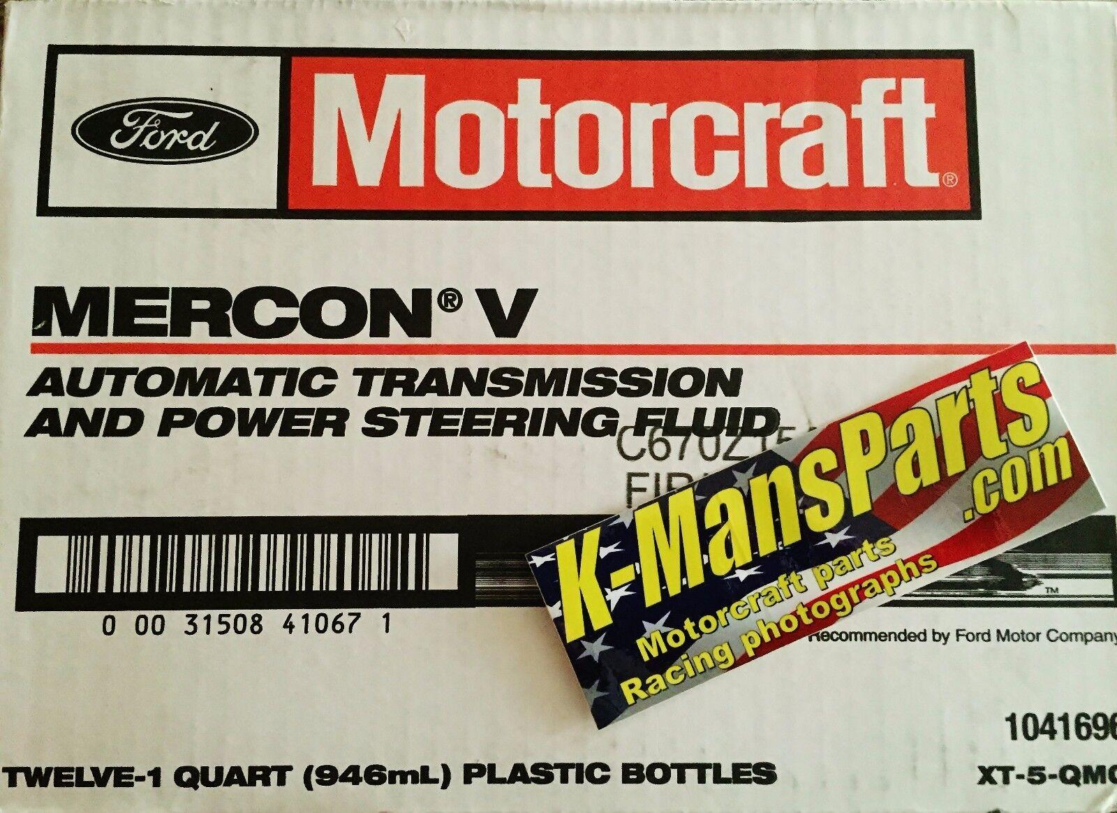 Mercon V: 10 Quarts Of Ford Motocraft Mercon V Mercon LV Automatic