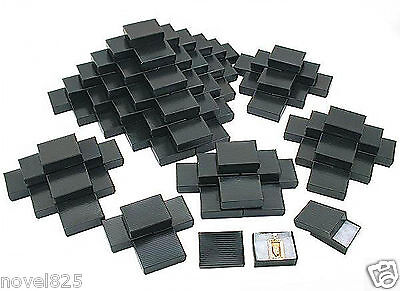 Black Stripe Cotton Filled Jewelry Gift Box 100 Pcs