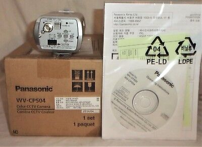 PANASONIC WV CP504 SD5 SUPER DYNAMIC COLOR CCTV SECURITY CAMERA 24V  NEW IN BOX