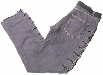 ICEBERG Womens Jeans W30 L31 Black Cotton Straight  DH01