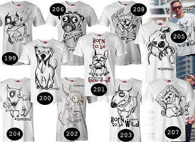 T-Shirt Männer Unisex - 10 coole lustige Dog Hunde Shirts im Angebot #Sunnywall ()