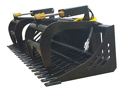 New Skid Steer 72 Skeleton Grapple Universal Quick Attach Free Shipping