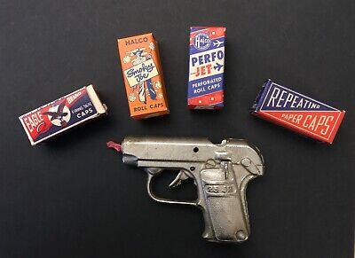 Vintage 1930s Stevens 25 Jr Cap Gun Pistol Toy - Works Great! - Nickel Plated?