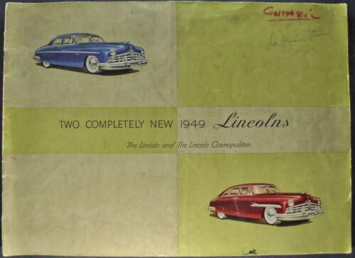 1949 Lincoln Prestige Catalog Sales Brochure Cosmopolitan Original 49
