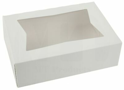 8 X 5 34 X 2 12 White Bakery Box By Mt Products - Pack Of 15 Boxes