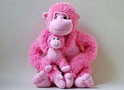 Toys R us Affe mit Baby rosa Plüschtier Stofftier Kuscheltier Schimpanse Gorilla ()
