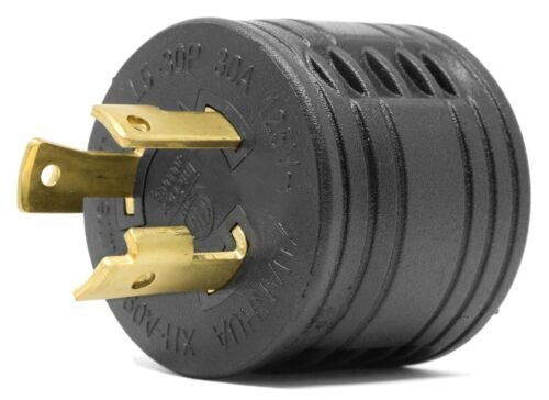 WEN GNA030 120V 30-Amp 3600-Watt Generator to RV Adapter, NEMA L5-30P to TT-30R