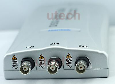 Hantek Dso-2250 Pc Usb Digital Oscilloscope 100mhz 2ch 250msas 10mv-5v 9steps