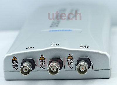 Hantek Dso-2250 Pc Usb Digital Oscilloscope 100mhz 2ch 250msas 10mv-5v 9steps