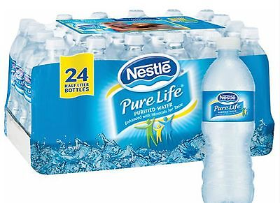 Nestle Pure Life Bottled Water 16.9 oz * a case of of 24 bottles* FREE SHIPPING