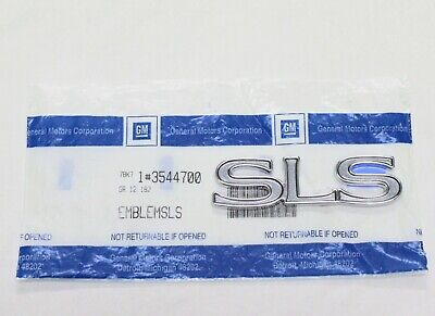 "1994 - 1997 CADILLAC SEVILLE ""SLS"" REAR DECK EMBLEM NAME CHROME- NEW 3544700"