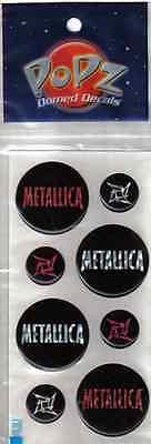 METALLICA 'POPZ' VINTAGE 2001 JAMES HETFIELD REFLECTIVE 8 BUTTON STICKER SET-NEW