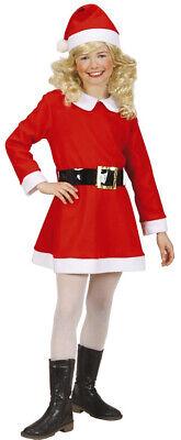 Santa Girl Weihnachtskostüm Flanell für Kinder NEU - - Santa Girl Kostüm Für Kinder