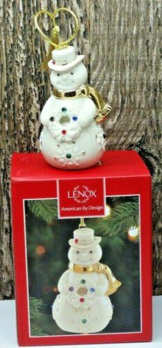 New Lenox Holiday Gems Snowman Christmas Ornament