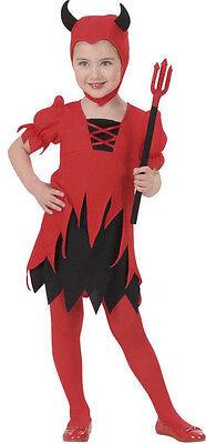 Teufelin Kostüm für Mädchen Kinder Teufelskostüm Teufel Halloween 110 / 4 Jahre ()