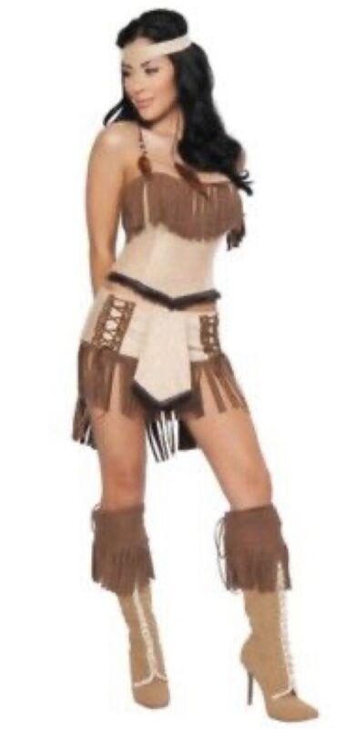 Roma 4-Piece Cherokee Princess Sexy Women's Halloween Costume Size M/L New