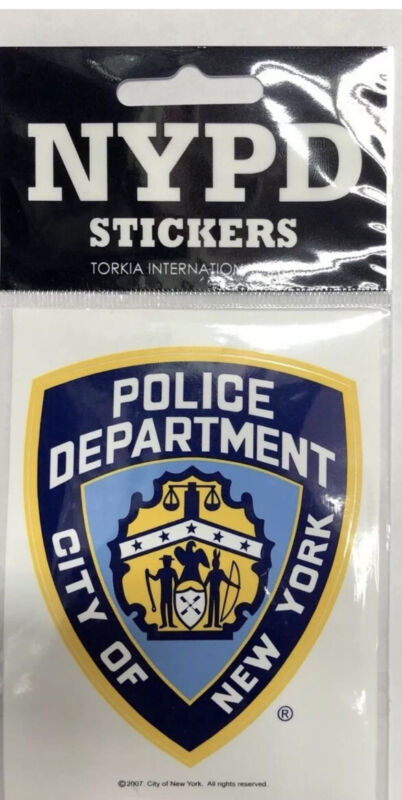 NYPD New York Police Department Offical Licensed Bumper Sticker-ShipBy USPS Mail