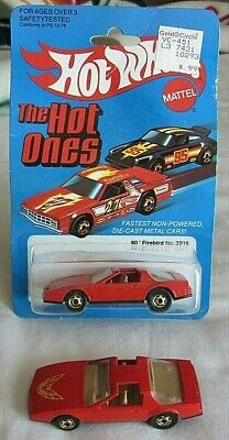 HOT WHEELS 80' S PONTIAC FIREBIRD NO. 3918 RED WITH GHO WHEELS