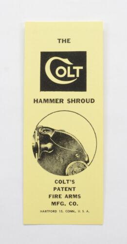 The Colt Hammer Shroud Card Detective Special, Agent,Cobra