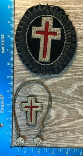 VINTAGE PRE 1930 SALVATION ARMY PATCHES VISOR CHIN STRAP 100A