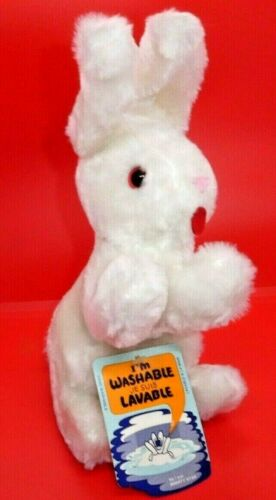 """VINTAGE MIGHTY STAR WASHABLE BUNNY RABBIT EASTER WITH TAGS- 9"""""""