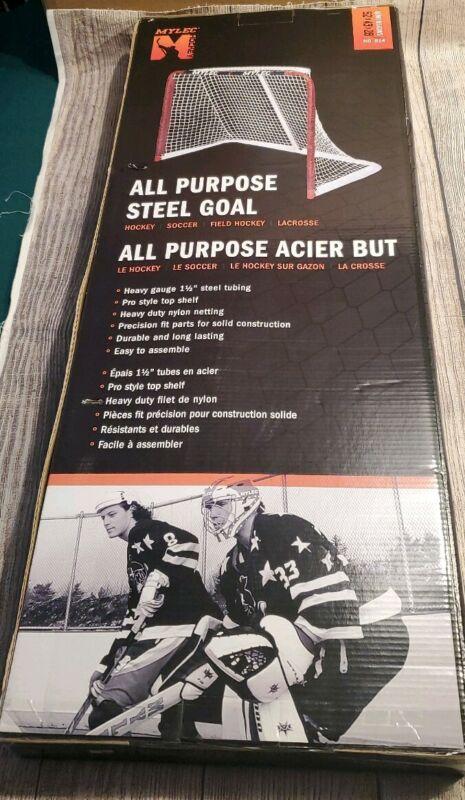 "Mylec Hockey All Purpose Steel Goal Heavy Gauge Nylon Netting 52"" x 43"" x 28"""