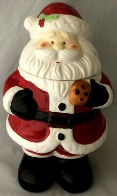 Vintage Santa Claus /St. Nick Ceramic Cookie Jar ~ Christmas Holiday Season