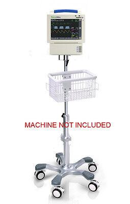 Rolling Stand For Welch Allyn Propaq Cs Monitor Wbottom Module Big Wheel