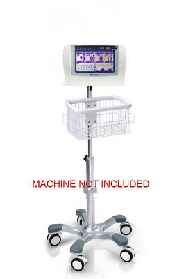 Rolling Stand For Nonin Lifesense Respsense Patient Monitor New Big Wheel