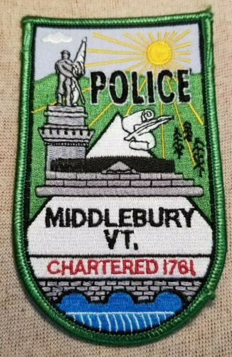 VT Middlebury Vermont Police Patch