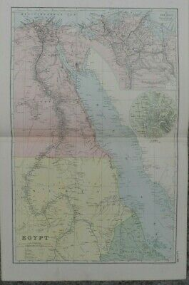 Antique map - Egypt - printed paper 19th c - for framing - 35x54  cm