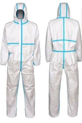 Protective Coverall Hazmat Suit Ppe Tyvek Full Body Protection Large 1 Pack