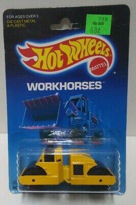 1986 Hot Wheels Workhorses Road Roller #3853 HTF