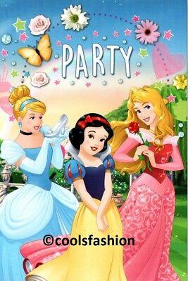 💝 Disney® Prinzessinnen/Princess 10 Einladungskarten+Umschläge Party Geburtstag