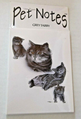 Grey Tabby Cat Note Cards