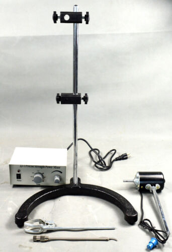 Electric Overhead Stirrer Mixer Variable-speed Drum Mix Biochemical Lab 110V 40W