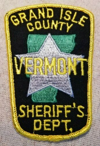 VT Grand Isle County Vermont Sheriff Patch