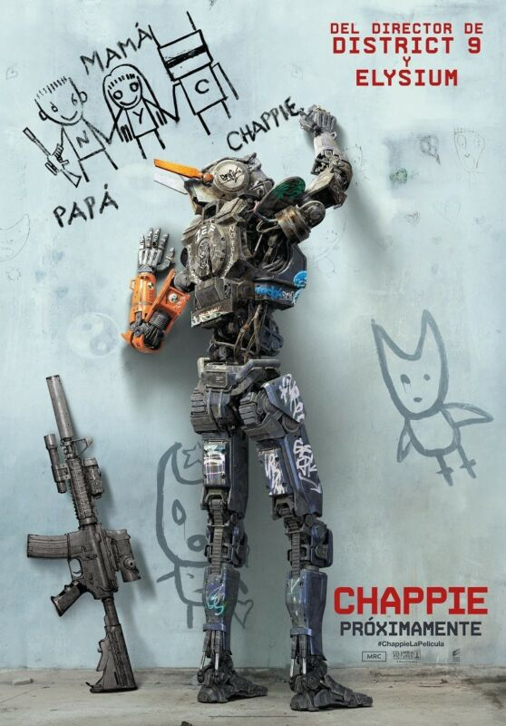 Chappie poster - Robot poster (c) Chappie movie poster (Spanish Style)
