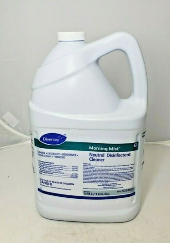 Diversey Morning Mist Fast Neutral Disinfectant Cleaner - Fresh Scent - 1 Gallon