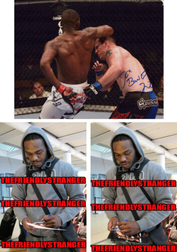 "JON JONES signed Autographed ""UFC"" 8X10 PHOTO a PROOF - Bones UFC GOAT Champ COA"
