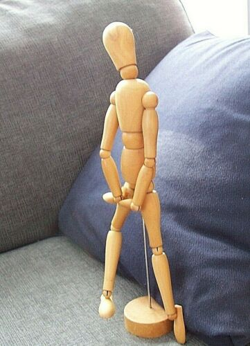 """Jointed Articulated Artist Model Figure Wood Mannequin 13"""""""