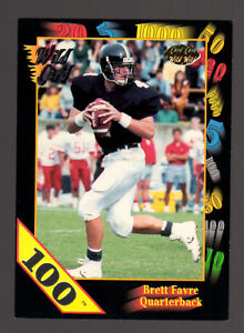 1991 Wild Card #119 Brett Favre 100 Stripes Rookie Card-Very Rare RC-Packers