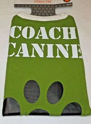 Bichon Frise Halloween Costumes (New Dog size Small Coach Canine T-shirt Green up to 20 lbs Halloween)