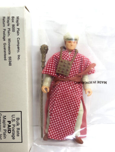 1982 Indiana Jones/ BELLOQ in Ceremonial Robes Kenner Mail In Figure- MIB