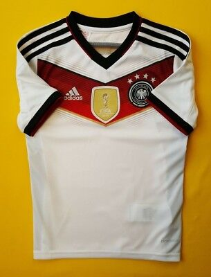 0001e618253 5+ 5 Germany DFB kids jersey 9-10 years 2014 shirt M35023 Adidas soccer ig93