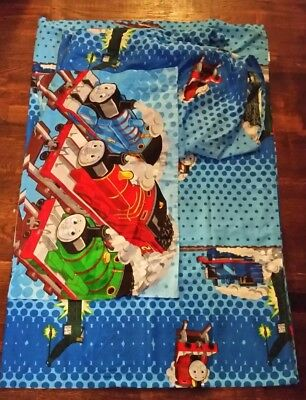 Thomas the Tank Engine 3 PC Twin Sheet Set Flat Fitted Pillow Case polka dots