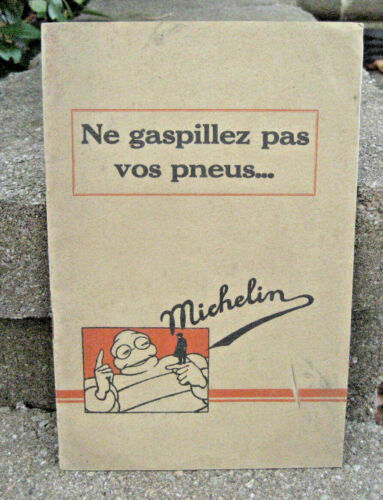 RARE 1929 Michelin Tires Brochure Booklet w/ Price List....French