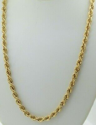 14K Yellow Gold Rope Chain with Barrel -